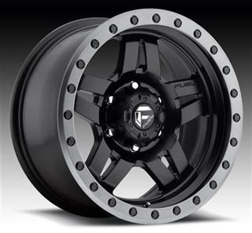 Picture of Fuel Anza, 16x8 with 6 on 5.5 Bolt Pattern - Black Matte